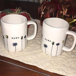 Rae Dunn Home floral coffee mugs two nwt 🎃🍁☕️